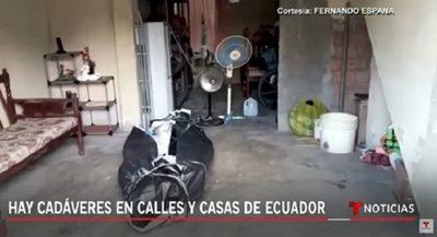 Futbolista paraguayo confirma que hay cadáveres en calles de Guayaquil