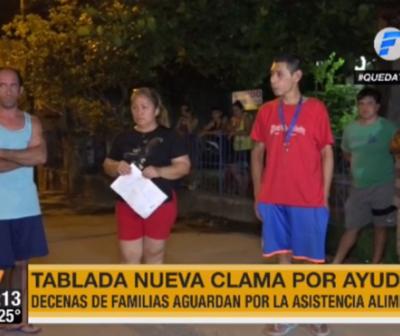 Pobladores de Tablada Nueva claman por ayuda para seguir comiendo