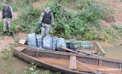 Casi una veintena de canoas incautadas en la vera del Río Paraná
