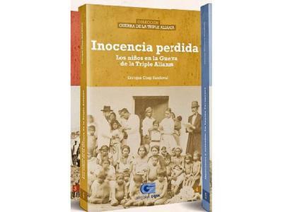 Una colección de libros sobre la Guerra de la Triple Alianza