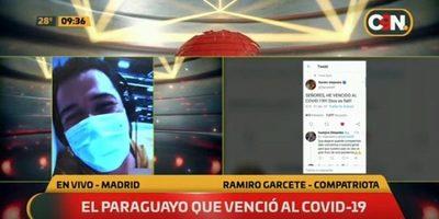 Paraguayo en España se recupera del Covid-19 y habla de su tratamiento