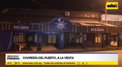 Chopería del Puerto cierra y local está en venta
