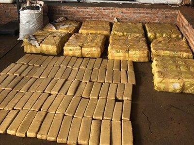Senad incauta 418 kilos de marihuana en María Auxiliadora