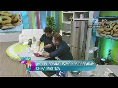 El Pionero cocinando chipas en Vive la Vida XL