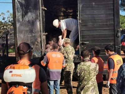 ARP Regional Tte. Esteban Martínez entregó 7.220 kilos de carne a familias carenciadas