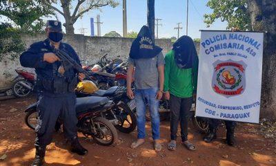 Dos hermanos detenidos  por utilizar moto robada y otra de dudosa procedencia – Diario TNPRESS