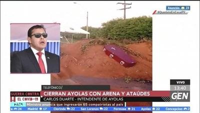 HOY / Carlos Duarte, Intendente de Ayolas, sobre cierre de la ciudad con arena y ataúdes