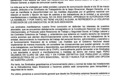 Sindicatos de Itaipú reculan y ahora señalan que no tienen intención de cerrar la usina – Diario TNPRESS
