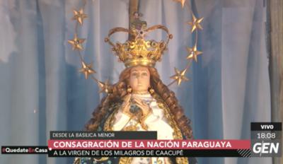 HOY / Consagran la nación y el pueblo paraguayo a la Virgen de Caacupé ante pandemia de coronavirus
