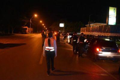En control policial, detienen a cuatro motociclistas en Carapeguá