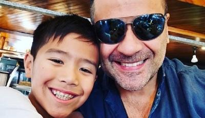 Roberto Pérez celebró conentusiasmoel cumpleaños de su hijo Maxi