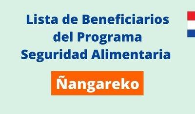 Lista de beneficarios de San Lorenzo programa Ñangareko