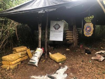 Incautan 418 kilos de marihuana en María Auxiliadora, Itapúa