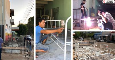 En San Pedro del Paraná: Pobladores repararon camas y muebles del Hospital Distrital