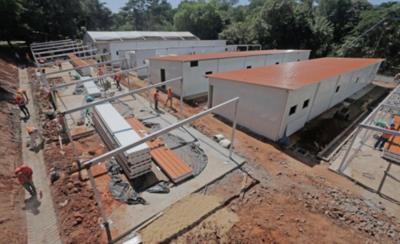 HOY / Significativos avances en la construcción de los centros de atención en Itauguá e INERAM