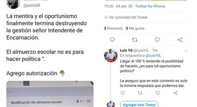 GUERRA DE «TUITS»: PETTA TRATÓ A YD DE MENTIROSO Y OPORTUNISTA