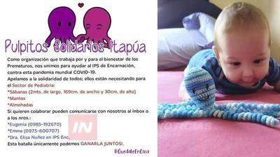 PULPITOS SOLIDARIOS PIDEN DONACIÓN DE SÁBANAS Y ALMOHADAS PARA SECTOR INFANTIL DE IPS.