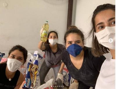 Gaby Mena emprendió cruzada solidaria con ayuda de sus amigas