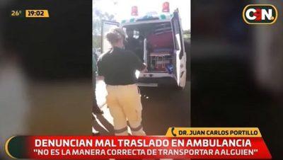 Detienen ambulancia por trasladar muchas personas en Cruce Liberación