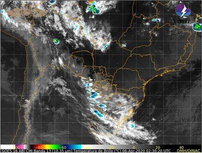 Emiten alerta meteorológica por posibles tormentas eléctricas