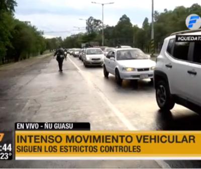 Intenso movimiento vehicular en la zona de Ñu Guasu