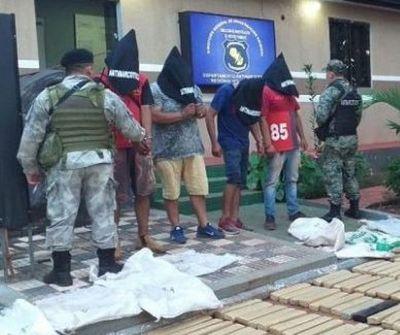 392  kilos de Cannabis y cuatro detenidos en la colonia San Luis