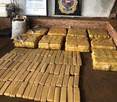 Cae casi 400 kilos de droga en Pedro Juan Caballero