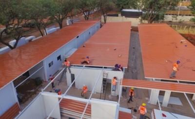 Futuros hospitales de contingencia ya están techados
