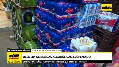 Delivery de bebidas alcohólicas, suspendido