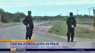 POZO COLORADO: PUESTO DE CONTROL EVIDENCIA NULA CIRCULACIÓN