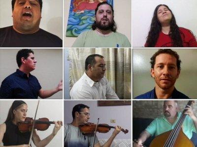 Cantantes y músicos del IMA graban  Aleluya como  mensaje de esperanza