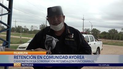 COMUNIDAD AYOREA DE FILADELFIA RETUVO A FUNCIONARIOS DE LA GOBERNACIÓN
