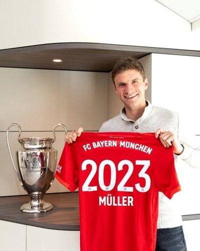 Thomas Müller extiende su vínculo con Bayern Múnich hasta el 2023