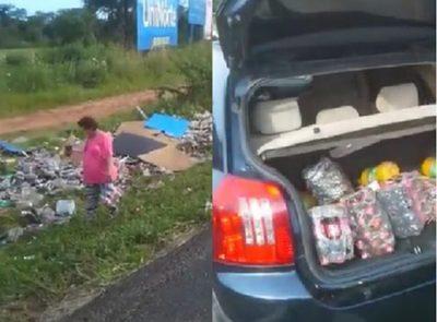 Pobladores de Ypacaraí roban mercaderías a conductor accidentado