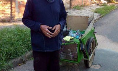 Reciclador llama a la solidaridad para alimentar a su familia