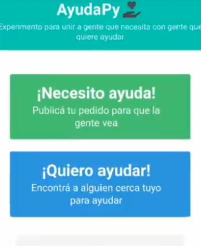 AyudaPy: una plataforma para unir gente que necesita con gente que quiere ayudar