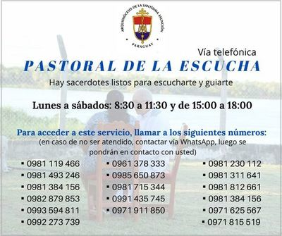 Arzobispado habilita líneas telefónicas para asistencia espiritual durante cuarentena