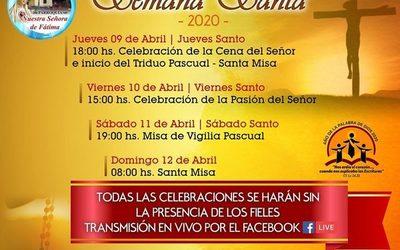 Celebraciones por Semana Santa se vivirán vía Facebook