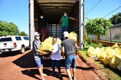 Más de 30.000 Kg de alimentos fueron distribuidos en Alto Paraná