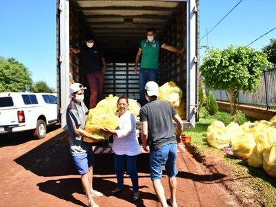 Covid-19: Entregan más de 30.000 kilos de alimentos en Alto Paraná