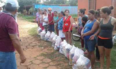 Grupo solidario distribuyó viveres en Yby Ya'u