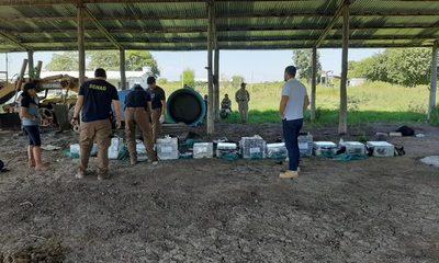 Bahía Negra: Incautaron 385 kilos de Cocaína en estancia rural