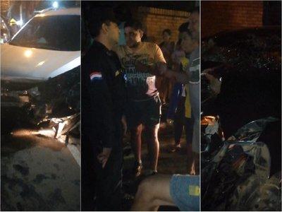 Policía en estado de ebriedad causa accidente en Luque