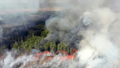 Incendios en la zona de Chernóbil