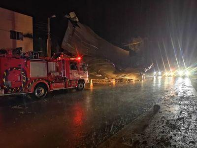 Tormenta causó destrozos en Pedro Juan y todos los barrios quedaron sin electricidad