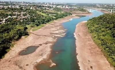 Aseguran que bajo caudal de los ríos Yguazú y Paraná se debe a la falta de lluvias
