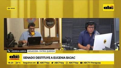 Senadora Eugenia Bajac pierde su investidura