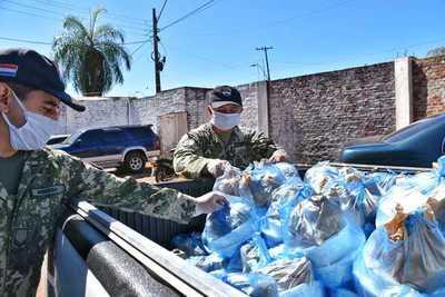 SEGUNDA JORNADA DE DISTRIBUCIÓN DE ALIMENTOS, DE LA GOBERNACIÓN DE ITAPÚA Y LA OPD