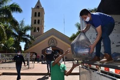 Itaipú dsitribuyó más de 70 mil kilos de alimentos en Alto Paraná