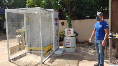 Hospital Regional adquiere cabina de desinfección creada por concepcionero